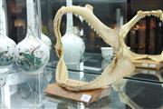 Sale 8331A - Lot 516 - Shark Jaw, mounted