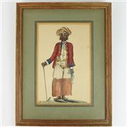 Sale 8399 - Lot 58 - Indian Watercolour Servant Who Accompanied Lord William Bentinck to Bangalore