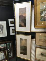 Sale 8754 - Lot 2040 - Pair of Landscape Oil Paintings by W. Lindley, 76 x 45.5cm (frame, each) -
