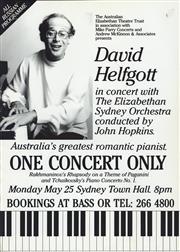 Sale 8766A - Lot 5044 - David Helfgott in Concert - screenprint