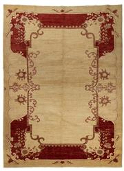 Sale 8780C - Lot 225 - An Afghan Chobi Naturally Dyed In Hand Spun Wool, Very Suitable To Australian Interiors, 302 x 222cm