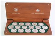 Sale 8869 - Lot 56 - A Cased Set of Sydney 2000 Olympic Silver Coin Collection (Perth Mint and Royal Australian Mint)