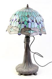 Sale 8994 - Lot 64 - Art Nouveau Style Table Lamp with Dragonfly Shade