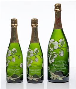 Sale 9255H - Lot 99 - A Perrier-Jouet Belle Epoque Champagne Brut magnum display bottle, Height 39cm, together with 2 standard sized display bottles, Heig...