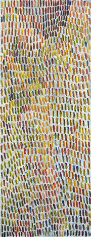 Sale 8288A - Lot 7 - Jeannie Mills Pwerle (c1965 - ) - Untitled, 2006 120 x 46cm (framed & ready to hang)