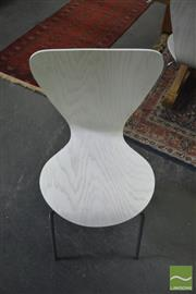 Sale 8392 - Lot 1020 - Set of Six Ant Style Dining Chairs