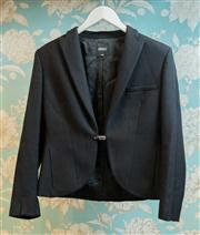 Sale 8474A - Lot 82 - A stunning vintage Versus Versace tailored woolen tuxedo style jacket featuring diamante buckle & strap closure, hidden side pockets...