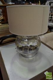 Sale 8480 - Lot 1158 - Glass Table Lamp