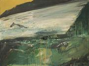 Sale 8606 - Lot 537 - Euan MacLeod (1956 - ) - Painting with Swimmer, 1999 38 x 51cm