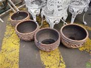Sale 8601 - Lot 1248 - Set of Four Planters