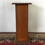 Sale 8649R - Lot 10 - Timber Pedestal (H: 94cm W: 37cm)