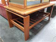Sale 8684 - Lot 1003 - Danish Teak Coffee Table with Magazine Shelf (H: 46 L: 107 W: 53.5cm)
