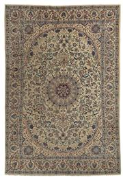 Sale 8715C - Lot 27 - A Persian Nain Super Fine Wool And Silk Inlaid Pile, 348 x 247cm