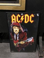 Sale 8750 - Lot 2068 - AC/DC Framed Poster