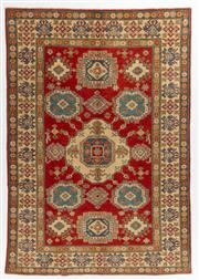 Sale 8760C - Lot 67 - An Afghan Kazak Geometric Design 100%Wool And Natural Dyes, 288 x 201cm