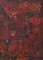 Sale 8839A - Lot 5010 - Michael Kmit (1910 - 1981) - Red Burgundy, 1965 100 x 71cm