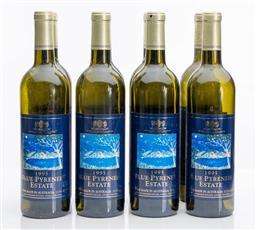 Sale 9255H - Lot 60 - A set of 8 Blue Pyrenees Estate display wine bottles, Height 31.5cm.