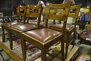 Sale 8364 - Lot 1044 - Set Of Six Oak Dining Chairs