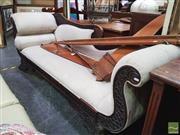 Sale 8447 - Lot 1079 - Tropical Hardwood Chaise