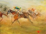 Sale 8583 - Lot 535 - Hugh Sawrey (1919 - 1999) - The Polo Riders 22.5 x 29cm