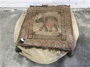 Sale 9059 - Lot 1014 - Indian Cushion Depicting Elephant (H:20 x W:84cm2)