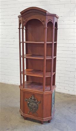 Sale 9137 - Lot 1036 - Timber open bookcase (h:188 x d:58 x d:39cm)