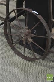 Sale 8310 - Lot 1627 - Iron Wagon Wheel