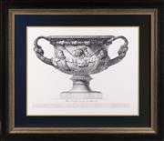Sale 8342A - Lot 64 - An Italian urn study, Altra Veduta del gia descritto Vaso, in black and gilt frame, 78 x 90cm inc. framing