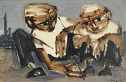 Sale 8722 - Lot 553 - Kevin Connor (1932 - ) - Discussion (Two Figures), 1962 58 x 89cm