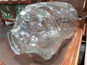 Sale 8740 - Lot 1070 - Large Pig Form Glass Jar