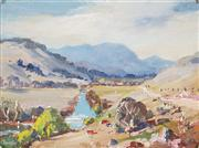 Sale 8824 - Lot 2005A - Douglas Pratt (1900 - 1972) - Blowering Vallery Near Tumlit 14 x 19.5cm
