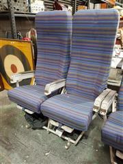 Sale 8809B - Lot 616 - Pair of Vintage Aircraft Seats