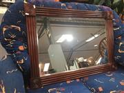 Sale 8822 - Lot 1768 - Mahogany Framed Bevelled Edge Mirror (100 x 70cm)