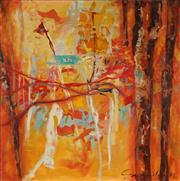 Sale 8870 - Lot 2022 - Margarita (Rita) Georgiadis - Untitled Landscape #3, 1995 110 x 106cm