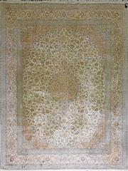 Sale 8831 - Lot 1018 - Fine Kashmiri Silk Rug (365 x 279cm)