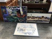 Sale 9024 - Lot 2050 - 4 Works incl Artist Unknown - Interior Scene, oil on canvas