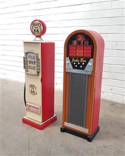 Sale 9108 - Lot 1064 - Bowser form CD rack and jukebox example (h:87cm)