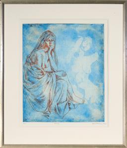 Sale 9125A - Lot 5075 - Louis Kahan (1905 - 2002) - Elegy, 1985 59.5 x 49 cm (frame: 89 x 76 x 2 cm)