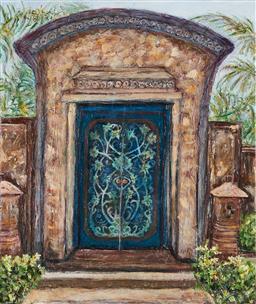 Sale 9125A - Lot 5062 - Stanley Perl (1942 - ) - A Door in Bali 61 x 50.5 cm