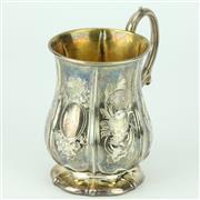 Sale 8332 - Lot 44 - English Hallmarked Sterling Silver Victorian Christening Mug