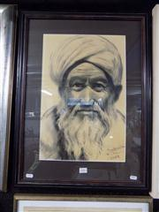 Sale 8437 - Lot 2083 - Artist Unknown (XX) - Portrait of a Man (Kabul, 1977) 46.5 x 31cm