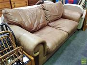 Sale 8462 - Lot 1081 - Faded Leather 2.5 Seater Lounge