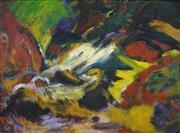 Sale 8467 - Lot 506 - Emily Jackson (1909 - 1993) - North of Wanaka, Central Otago, Summer, 1986 74 x 101cm