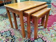 Sale 8562 - Lot 1051 - Nest of Three Tables
