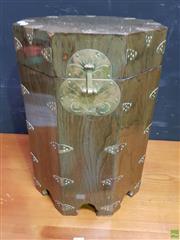 Sale 8629 - Lot 1010 - Octagonal Oriental Lidded Box, H: 46cm
