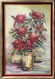 Sale 8686 - Lot 2038 - Win Albury - Waratahs  oil on canvas board, 84 x 59cm, signed lower left