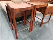 Sale 8801 - Lot 1068 - Pair of Parker Barstools