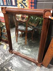 Sale 8822 - Lot 1830 - Mahogany Framed Bevelled Edge Mirror (75 x 75cm)