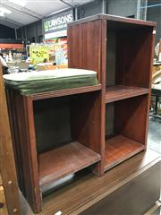 Sale 8822 - Lot 1584 - Open Shelves with Seat