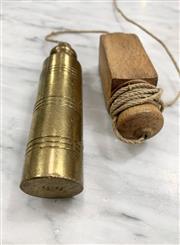Sale 8951P - Lot 343 - French Solid Brass Flat Bottom Plumb Bob (12.5cm)